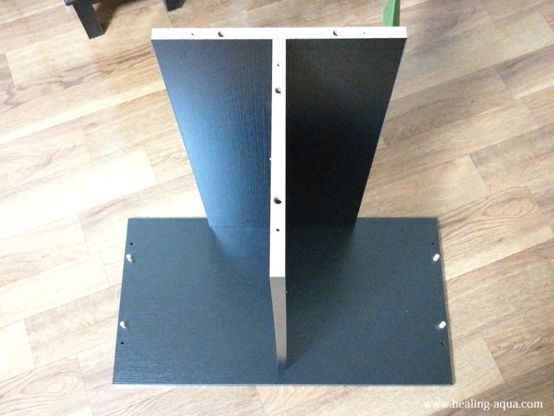 GEX扉付キャビネット610WN底板と背面板・中板組み立て