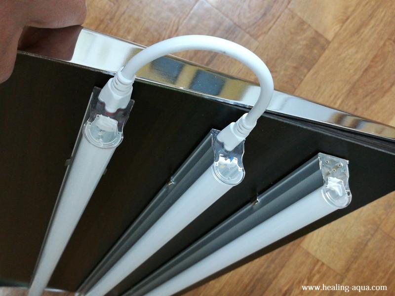 器具一体型直管LED蛍光灯連結線接続