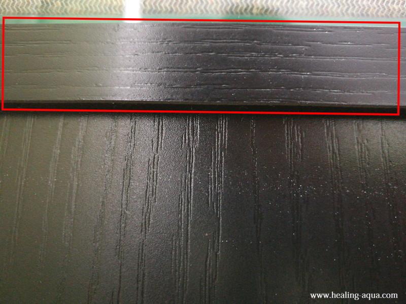 60cm水槽台の取り付け位置段差