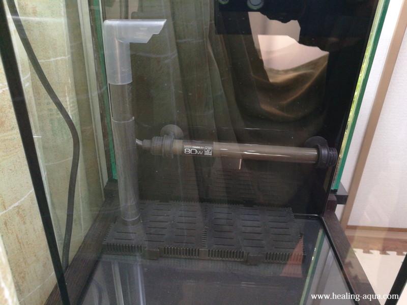 底面フィルターニッソーバイオフィルターミニと水槽用ヒーター