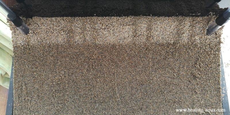 底床(底砂)田砂敷き