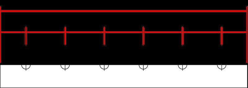 エアレーション分岐配管製作図
