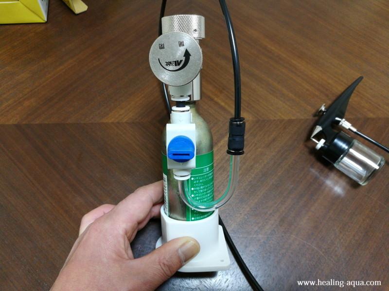 CO2機器とスプレー部分の接続-6
