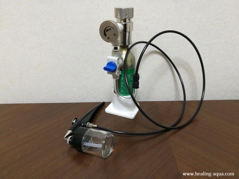 CO2機器とスプレー部分の接続完成-3