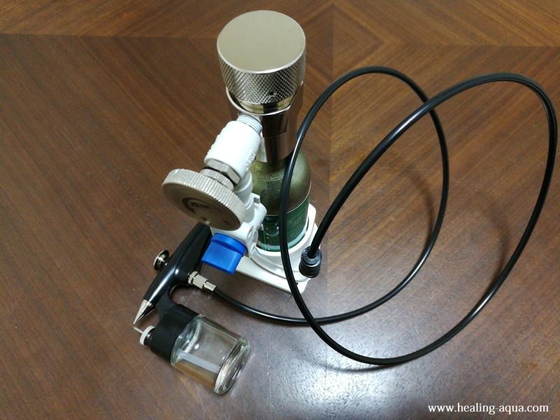 CO2機器とスプレー部分の接続完成-5