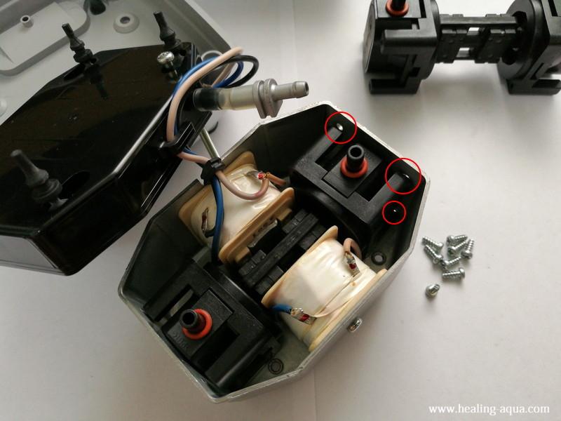 ハイブローC-8000新しい振動子ブロックを取り付ける
