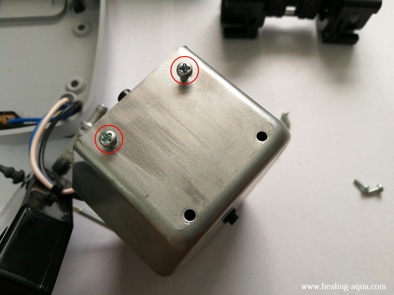 ハイブローC-8000振動子ブロックを真直ぐに止める方法