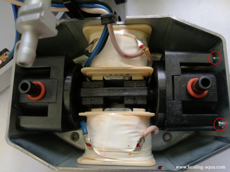 ハイブローC-8000振動子ブロックの仮止め