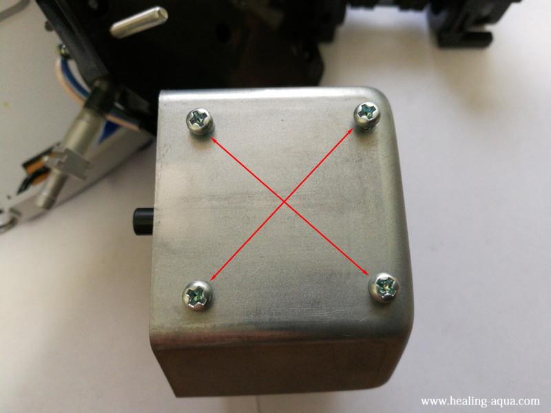 ハイブローC-8000振動子ブロックのビスは対角に締める