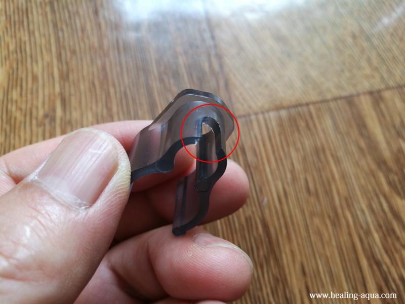 吸盤(キスゴム)が取り付く位置の切り欠き