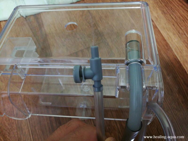 サテライト外掛式飼育ボックス:エアチューブにエアーボリュームを付ける
