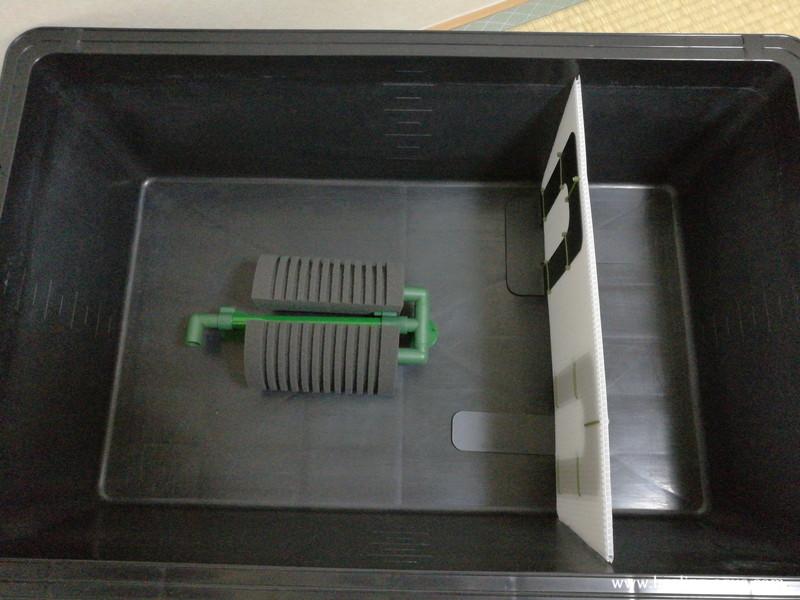 テトラ、ツインブリラントスーパーフィルター設置イメージ