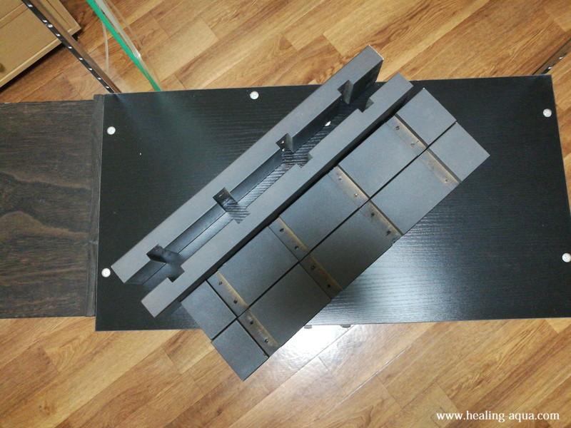 2階建て水槽台に使用する支柱