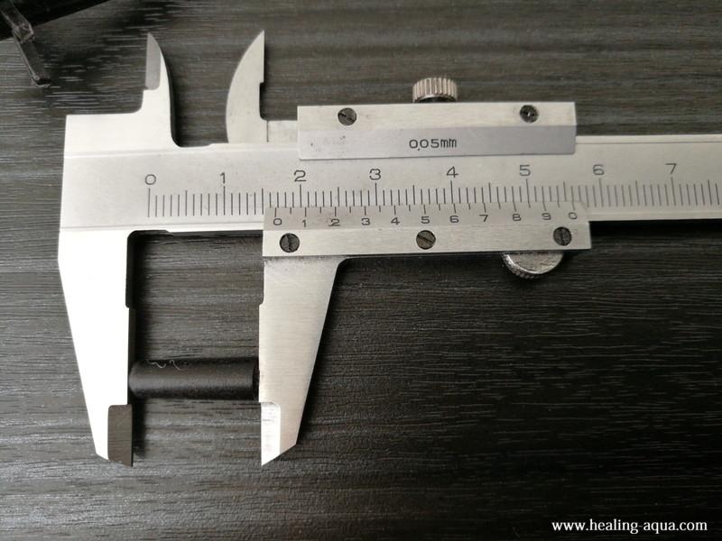スポンジフィルターLS-30S棒状部分切断した寸法