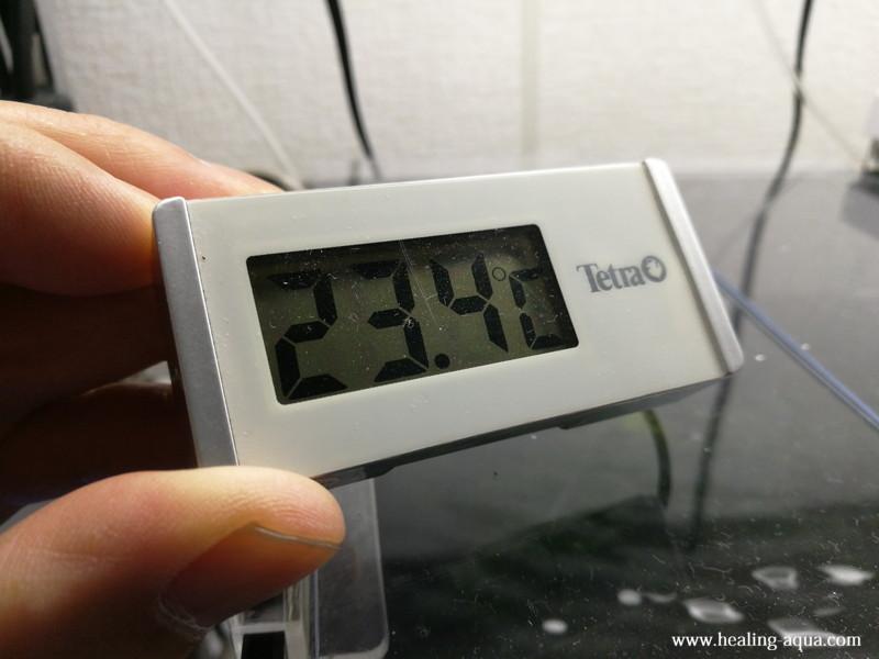 GEXアクアクールファン「レギュラー」使用後190分水温計23.4℃