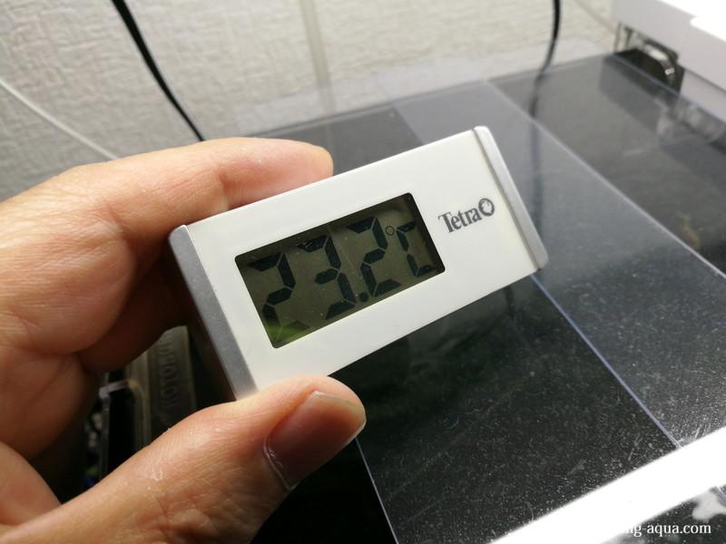 ファンを回して水容量の減りを観察:16時48分の水温