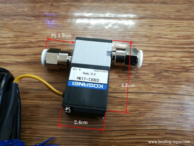 AIネット熱くなりすぎない超小型電磁弁大きさ