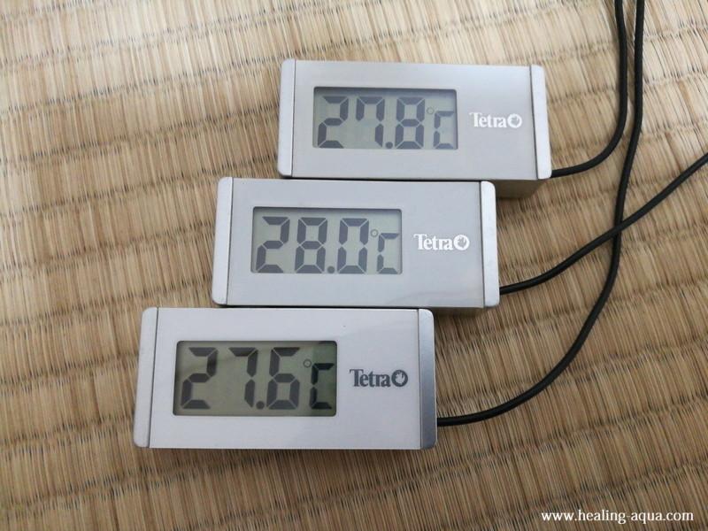 テトラ水温計WD-1水中に入れた時の温度