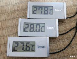 テトラ水温計WD-1水中に入れ温度が下がった時