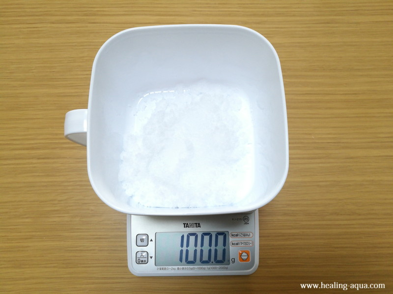 発酵式CO2製作砂糖100gを量る