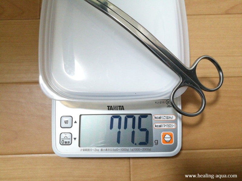 マックスアイ(Macks.i)水草用トリミングハサミウェーブタイプ(波型)重量