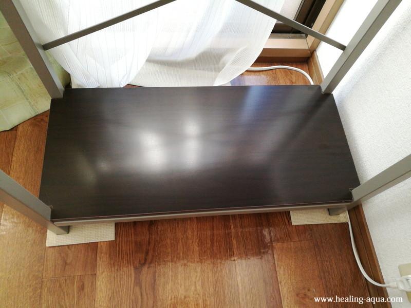 NCS-030水槽台下段に敷いたメラミン化粧棚板