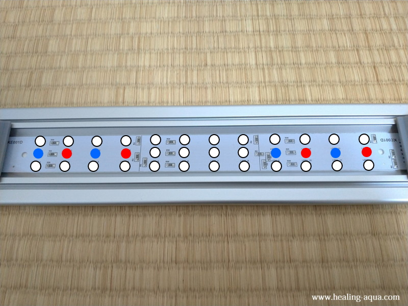 コトブキ工芸フラット(FLAT)LED300のLED電球配置